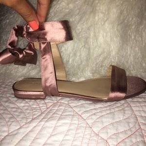 Shoes - NEW Blush wrap around sandals